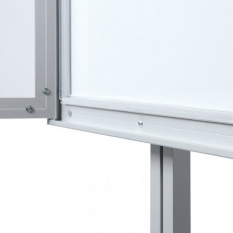 Freestanding Lockable Magnetic Noticeboard White Light Display